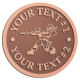 Ace Recognition Copper Coin, Lapel, Plaque - with your text and logo - paint balls, paint guns, paint, paintball, paintballer, paintballing, fun, game, gun, hit, hobby, recreation, sports