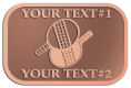 Ace Recognition Copper Crest, Lapel - with your text and logo - ping pong, paddles, table tennis