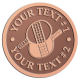 Ace Recognition Copper Coin, Lapel, Plaque - with your text and logo - ping pong, paddles, table tennis