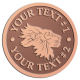 Ace Recognition Copper Coin, Lapel, Plaque - with your text and logo - lions, lion heads, emblems, symbols, themes, animals, zoo, jungle