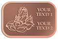 Ace Recognition Copper Crest, Lapel, Plaque - with your text and logo - lobsters, seafood, shellfish, claws