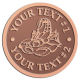 Ace Recognition Copper Coin, Lapel, Plaque - with your text and logo - lobsters, seafood, shellfish, claws