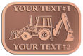 Ace Recognition Copper Crest, Lapel, Plaque - with your text and logo - front loaders, excavators, back hoes, backhoes, loaders, trenchers, excavators, excavating, equipment, diggers