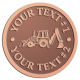 Ace Recognition Copper Coin, Lapel, Plaque - with your text and logo - front loaders, excavators, back hoes, backhoes, loaders, trenchers, excavators, excavating, equipment, diggers