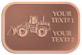 Ace Recognition Copper Crest, Lapel, Plaque - with your text and logo - bobcats, construction, industrial, machine, machinery