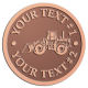 Ace Recognition Copper Coin, Lapel, Plaque - with your text and logo - bobcats, construction, industrial, machine, machinery