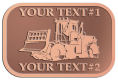 Ace Recognition Copper Crest, Lapel, Plaque - with your text and logo - bulldozers, machinery, equipment, heavy