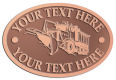 Ace Recognition Copper Crest, Lapel, Plaque - with your text and logo - snow plows, plows, snow removal, road equipment, heavy equipment