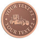 Ace Recognition Copper Coin, Lapel, Plaque - with your text and logo - graders, machinery, road equipment, heavy equipment, highway maintenance