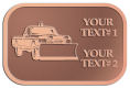 Ace Recognition Copper Crest, Lapel, Plaque - with your text and logo - snow removal, truck, plow, pick up, pick-up, snow plow