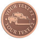 Ace Recognition Copper Coin, Lapel, Plaque - with your text and logo - snow removal, truck, plow, pick up, pick-up, snow plow