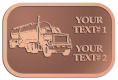 Ace Recognition Copper Crest, Lapel, Plaque - with your text and logo - tanker trucks, tank trucks, truck tankers, truck tanks, carriers, haulers, transportation