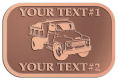 Ace Recognition Copper Crest, Lapel, Plaque - with your text and logo - dump truck, road construction, machinery, heavy equipment, transportation