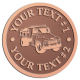 Ace Recognition Copper Coin, Lapel, Plaque - with your text and logo - dump truck, road construction, machinery, heavy equipment, transportation