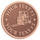 Ace Recognition Copper Coin, Lapel, Plaque - with your text and logo - forklifts, fork lifts, reach trucks, lift trucks, hoist trucks, industrial vehicles