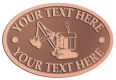 Ace Recognition Copper Crest, Lapel, Plaque - with your text and logo - diggers, excavators, excavation, excavation equipment, excavation machines, excavation machinery, digger tractors, crawler excavators