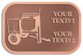 Ace Recognition Copper Crest, Lapel, Plaque - with your text and logo - cement mixers, concrete mixers, masonry mixers, concrete, mortar