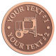 Ace Recognition Copper Coin, Lapel, Plaque - with your text and logo - cement mixers, concrete mixers, masonry mixers, concrete, mortar