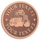 Ace Recognition Copper Coin, Lapel, Plaque - with your text and logo - cab enclosures, machines, industrial equipment, construction machinery, cabs