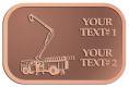 Ace Recognition Copper Crest, Lapel, Plaque - with your text and logo - service trucks, crane trucks, aerial equipment, bucket trucks, utility equipment, bucket cranes, booms, telescopic booms