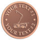 Ace Recognition Copper Coin, Lapel, Plaque - with your text and logo - service trucks, crane trucks, aerial equipment, bucket trucks, utility equipment, bucket cranes, booms, telescopic booms