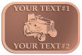 Ace Recognition Copper Crest, Lapel, Plaque - with your text and logo - lawn tractors, riding mowers, garden tractors, lawn mowers