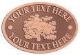 Ace Recognition Copper Crest, Lapel, Plaque - with your text and logo - forestry, logging, trees, gardening, horticulture, horticultural, landscaping, landscapers, conservation, ecology, environment