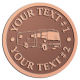 Ace Recognition Copper Coin, Lapel, Plaque - with your text and logo - RV, RVs, Recreational Vehicles, Motorhomes, motors, motor-homes, motorhomes, recreation, recreational, retire, retirement, tours, trailers, transportation, travel, travelers, trips, trucks, vacations, vans, vehicles, voyages, wheels