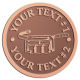 Ace Recognition Copper Coin, Lapel, Plaque - with your text and logo - tool belts, trades, construction, tool carrying, builder bags, tool organizers, tool pouches