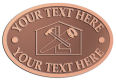 Ace Recognition Copper Crest, Lapel, Plaque - with your text and logo - home renovations, home remodelling, carpentry, levels, saws, woodworking, tools, trades, carpenters