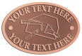 Ace Recognition Copper Crest, Lapel, Plaque - with your text and logo - drywall, drywall tools, plaster, plasterer, scrapers, utility knives, utility knife, ruler, square, drywallers, trades