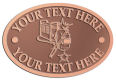 Ace Recognition Copper Crest, Lapel, Plaque - with your text and logo - welding, welders, welder generators, welding guns, welding helmets, welding systems