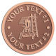 Ace Recognition Copper Coin, Lapel, Plaque - with your text and logo - roofing, roofers, ladders, shingles, hammers, contractors