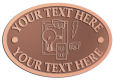 Ace Recognition Copper Crest, Lapel, Plaque - with your text and logo - electrical receptacle outlets, electricity, plugs, light bulbs, energy, electrical plugs, electrical