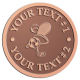 Ace Recognition Copper Coin, Lapel, Plaque - with your text and logo - .