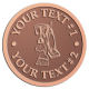 Ace Recognition Copper Coin, Lapel, Plaque - with your text and logo - janitorial, janitor, cleaning, vacuums, brooms, dust mops, janitorial supplies, janitorial equipment
