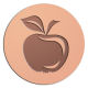 Ace Recognition Copper Buckle, Coin, KeyTag, Lapel, Medal, Pendant, Plaque - with your text and logo - apple, big, bright, calorie, closeup, color, delicious, diet, eat, eco, ecology, ecosystem, food, fresh, fruit, green, health, isolated, juice, leaf, lunch, macro, mature, natural, nutrition, object, pure, ripened, single, snack, stem, sweet