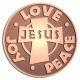 Ace Recognition Copper Coin, Lapel, Plaque - with your text and logo - Christian - Jesus - love - joy - peace - cross - love - faith - religion  religious, metal