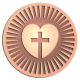 Ace Recognition Copper Coin, Lapel, Plaque, Buckle - with your text and logo - Chrisitian Designs - heart - cross  religious, metal