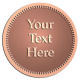 Ace Recognition Copper Coin, Lapel, Plaque - with your text and logo - Recovery - your text, metal