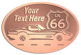 Ace Recognition Copper Crest, Lapel, Plaque - with your text and logo - Car designs - US route 66 - vintage cars - corvette - sports car - your text, route 66, route sixty six, route sixty-six, historic highway, historic road, mother road, transportation