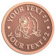 Ace Recognition Copper Coin, Lapel, Plaque - with your text and logo - Sports, mascots, sports, animals, gorillas, teams, high school, college, university