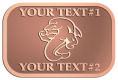 Ace Recognition Copper Crest, Lapel - with your text and logo - Sports, mascots, sports, sea creatures, dolphins, fish, teams, high school, college, university