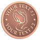 Ace Recognition Copper Coin, Lapel, Plaque - with your text and logo - Sports, mascots, sports, sea creatures, fish, teams, high school, college, university