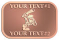 Ace Recognition Copper Crest, Lapel - with your text and logo - Cavemen, caveman, prehistoric, primal