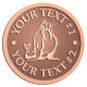 Ace Recognition Copper Coin, Lapel, Plaque - with your text and logo - Sports, mascots, sports, walrus, sea creatures, teams, high school, college, university