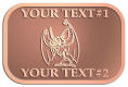 Ace Recognition Copper Crest, Lapel - with your text and logo - Sports, mascots, bats, high school, college, university
