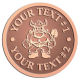 Ace Recognition Copper Coin, Lapel, Plaque - with your text and logo - Sports, mascots, vikings, norsemen, high school, college, university
