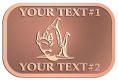 Ace Recognition Copper Crest, Lapel - with your text and logo - Sports, mascots, fish, sharks, high school, college, university