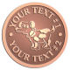 Ace Recognition Copper Coin, Lapel, Plaque - with your text and logo - Sports, mascots, sports, animals, dogs, canines, teams, high school, college, university